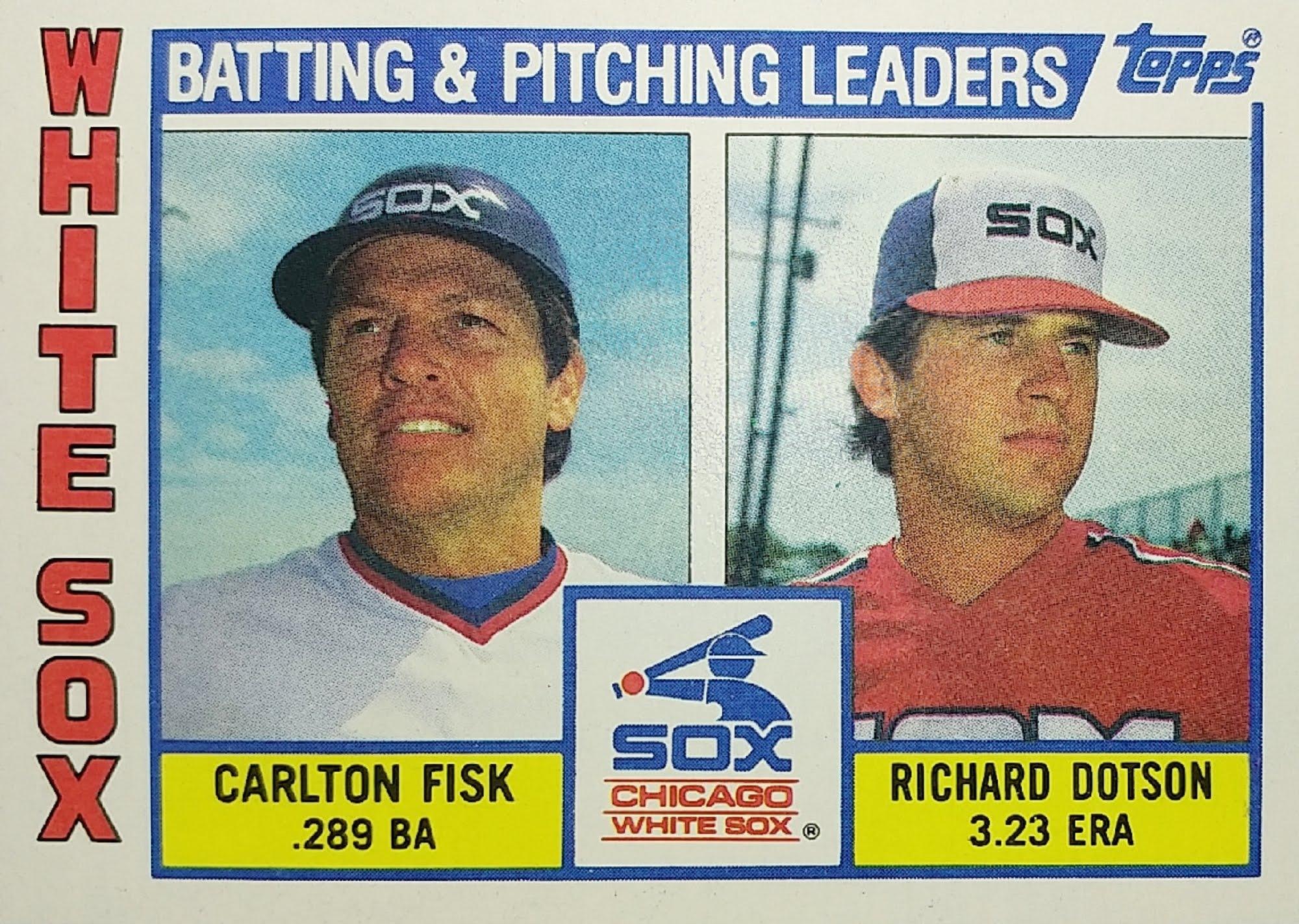 Topps 1984 White Sox Checklist front
