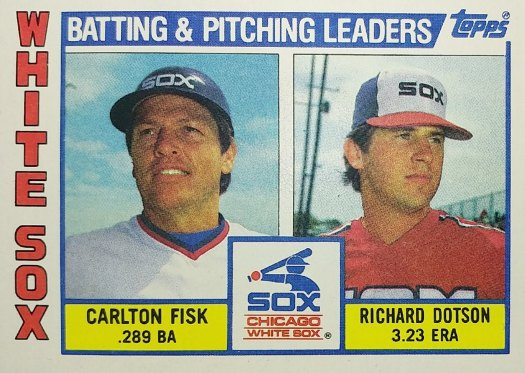 Topps 1984 White Sox Checklist front